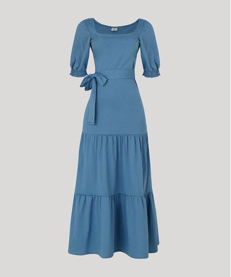 Vestido-Feminino-Mindset-Longo-com-Recortes-e-Faixa-para-Amarrar-Manga-Bufante-Azul-9948974-Azul_1