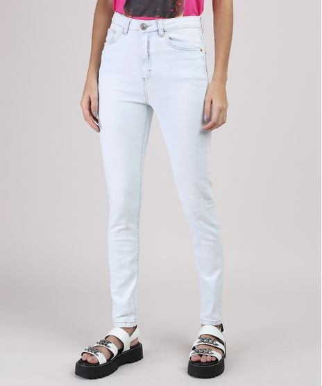 Calca-Jeans-Feminina-Skiny-Cintura-Media-com-Bolsos-Azul-Claro-9902169-Azul_Claro_1