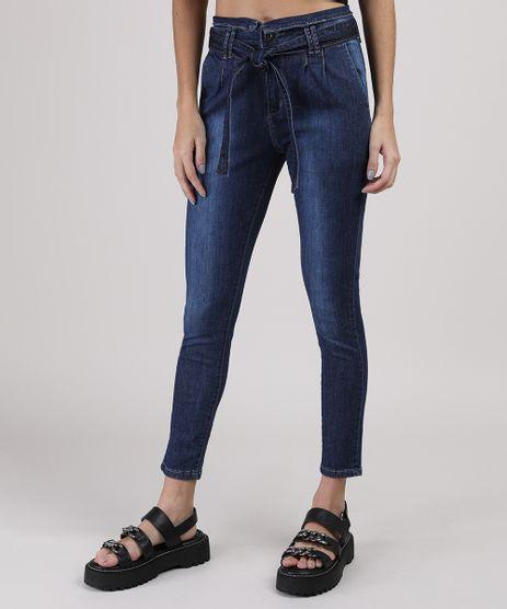 Calca-Jeans-Sawary-Clochard-Skinny-com-Faixa-e-Bolsos-Cintura-Media-Azul-Escuro-9945250-Azul_Escuro_1