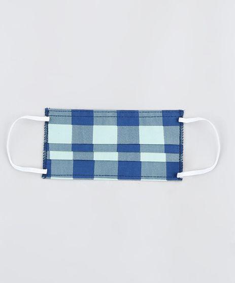 Mascara-de-Tecido-Reutilizavel-para-Protecao-Individual-Estampada-Xadrez-Azul-Marinho-9950635-Azul_Marinho_1