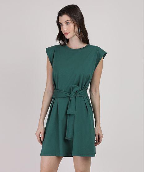 Vestido-Muscle-Dress-Feminino-Mindset-Curto-com-Ombreiras-e-Faixa-para-Amarrar-Sem-Manga-Verde-Escuro-9949427-Verde_Escuro_1