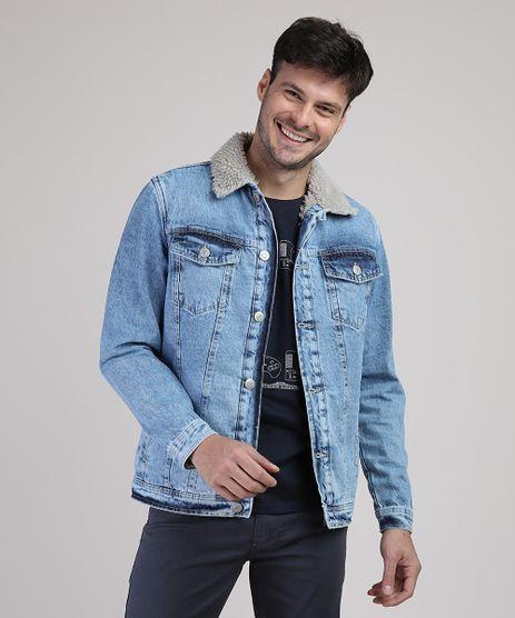 Jaqueta-Jeans-Masculina-com-Bolsos-e-Pelo-Azul-Medio-9879891-Azul_Medio_1