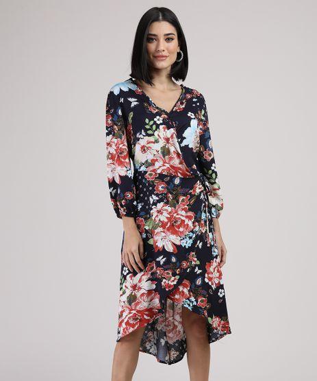 Vestido-Feminino-Midi-Mullet-Transpassado-Estampado-Floral-Manga-Longa-Azul-Escuro-9946304-Azul_Escuro_1