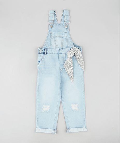 Macacao-Jeans-Infantil-Destroyed-com-Faixa-para-Amarrar-Azul-Claro-9945851-Azul_Claro_1