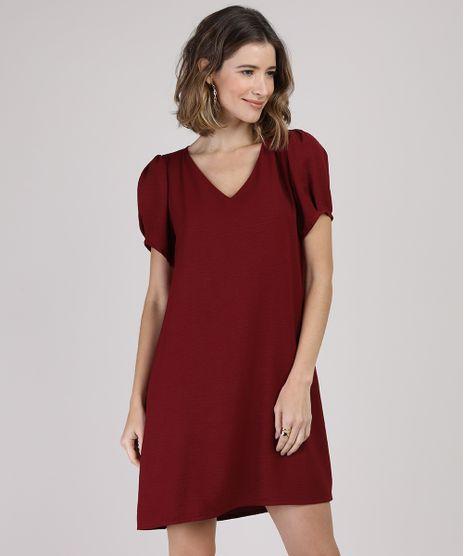 Vestido-Feminino-Curto-Manga-Bufante-Vinho-9941769-Vinho_1