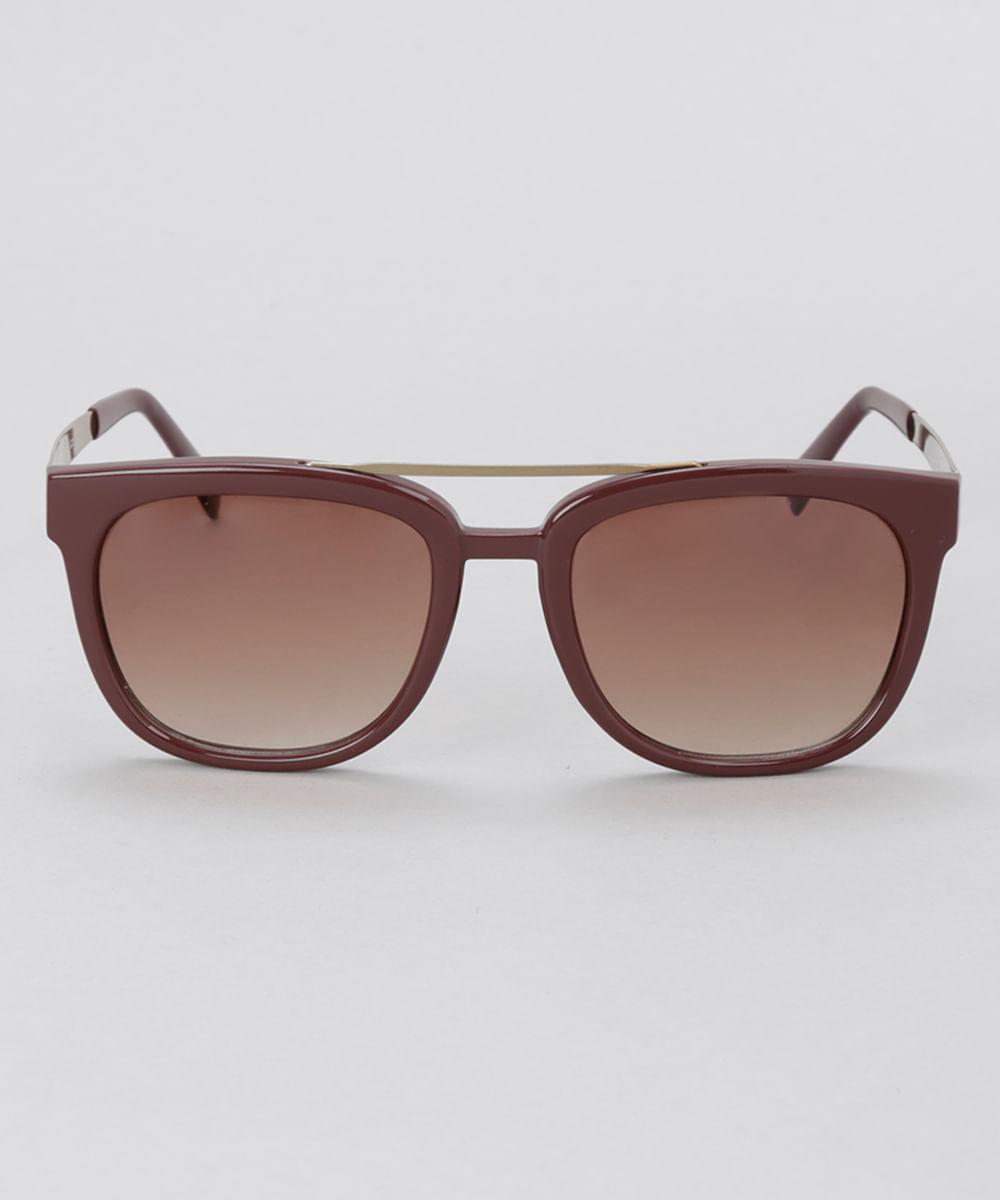 Óculos de Sol Quadrado Feminino Oneself Marrom - Único 286f5b0d51