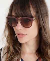 Oculos-de-Sol-Quadrado-Feminino-Oneself-Marrom . 25ea7f832b