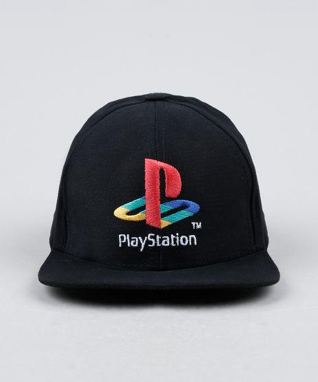 Bone-Infantil-Aba-Reta-PlayStation-com-Bordado-Preto-9866255-Preto_1