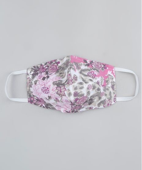 Mascara-de-Tecido-Reutilizavel-para-Protecao-Individual-Estampada-Floral-Animal-Print-Onca-Off-White-9950779-Off_White_1