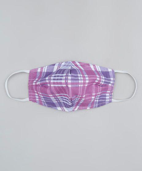 Mascara-de-Tecido-Reutilizavel-para-Protecao-Individual-Estampada-Xadrez-Roxa-9950776-Roxo_1