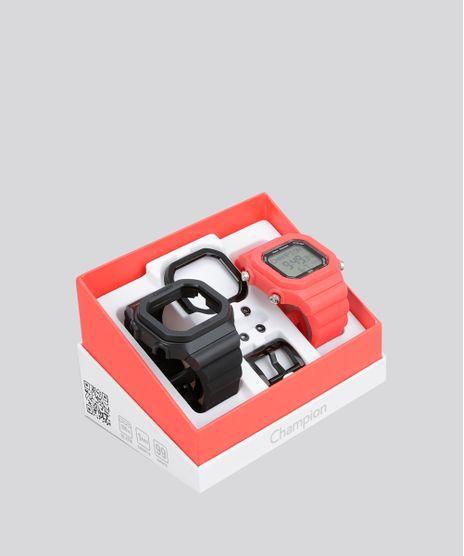 Óculos de Sol Quadrado Troca Hastes Champion Preto · consultar em lojas.  c-a. Relogio-Digital-Champion-Troca-Pulseiras-Unisex---CP40180X- 94ad127a2e
