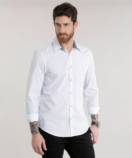 Camisa-Slim-Estampada-em-Algodao---Sustentavel-Branca-8585458-Branco_1