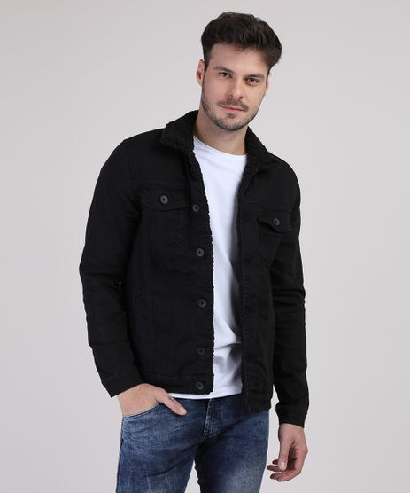 Jaqueta-Jeans-Masculina-com-Pelo-Preta-9554722-Preto_1
