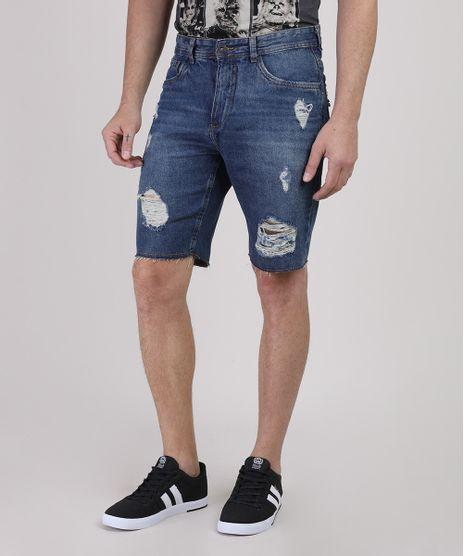 Bermuda-Jeans-Masculina-Slim-Destroyed-Azul-Escuro-9920748-Azul_Escuro_1