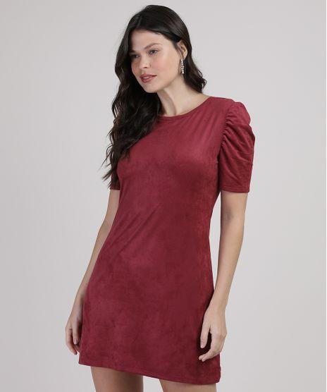 Vestido-de-Suede-Feminino-Curto-Manga-Bufante-Vinho-9938150-Vinho_1