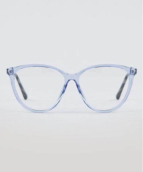 Armacao-para-Oculos-de-Grau-Feminina-Gatinho-Azul-9950435-Azul_1
