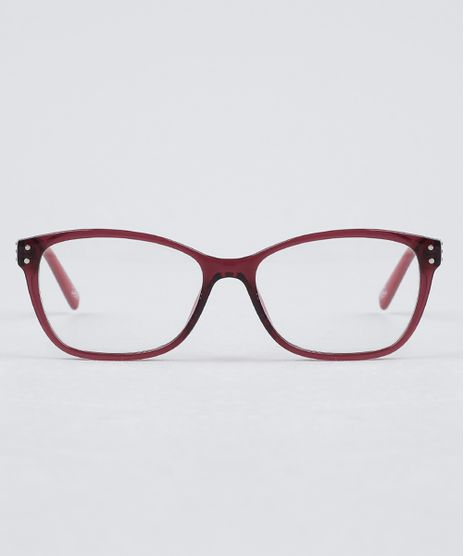 Armacao-para-Oculos-de-Grau-Feminina-Quadrada-Vinho-9950447-Vinho_1