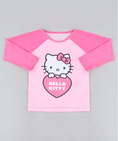 Blusa-de-Praia-Infantil-Hello-Kitty-Raglan-Manga-Longa-com-Protecao-UV50--Pink-9942513-Pink_1