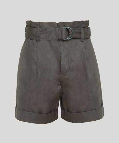Short-de-Sarja-Feminino-Clochard-Cintura-Super-Alta-com-Cinto-Verde-Militar-9947357-Verde_Militar_1