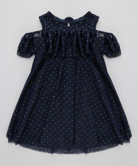 Vestido-Open-Shoulder-Estampado-de-Poa-Azul-Marinho-8706587-Azul_Marinho_1