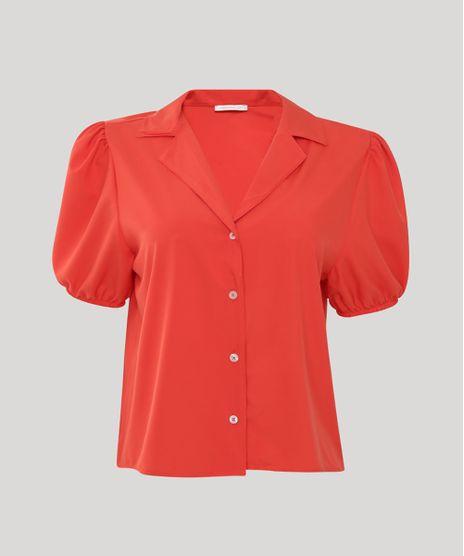 Camisa-Feminina-Manga-Bufante-Laranja-9943147-Laranja_1