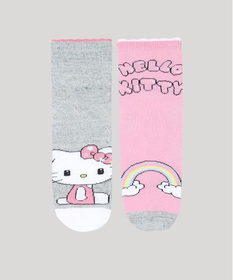 Kit-de-2-Meias-Infantis-Cano-Medio-Hello-Kitty-Multicor-9482029-Multicor_1