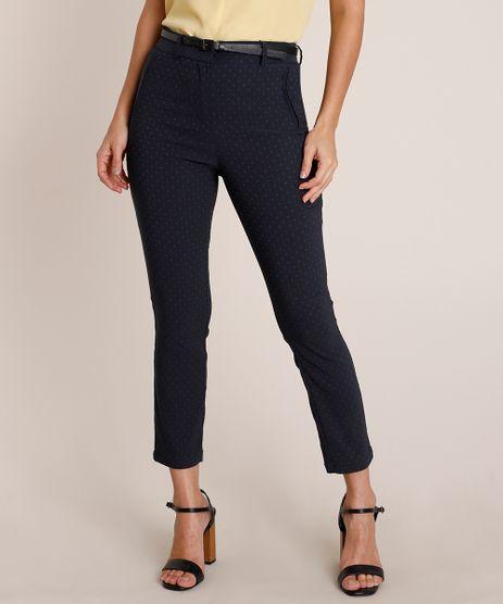 Calca-Feminina-Skinny-Estampada-Cintura-Alta-com-Cinto-Azul-Escuro-9688122-Azul_Escuro_1