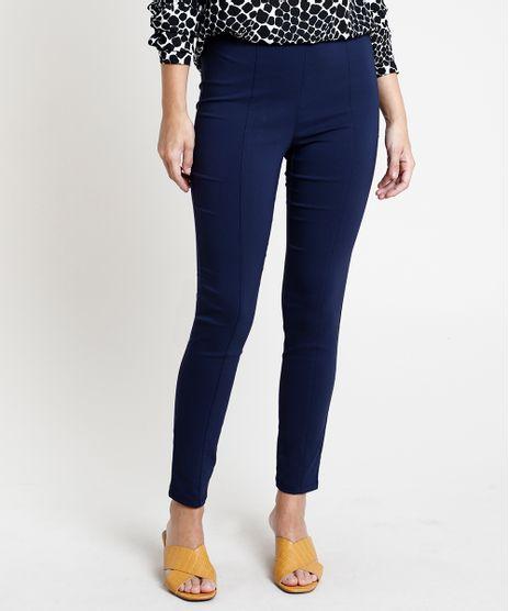 Calca-Feminina-Legging-Cintura-Media-com-Friso-Azul-Marinho-9824269-Azul_Marinho_1