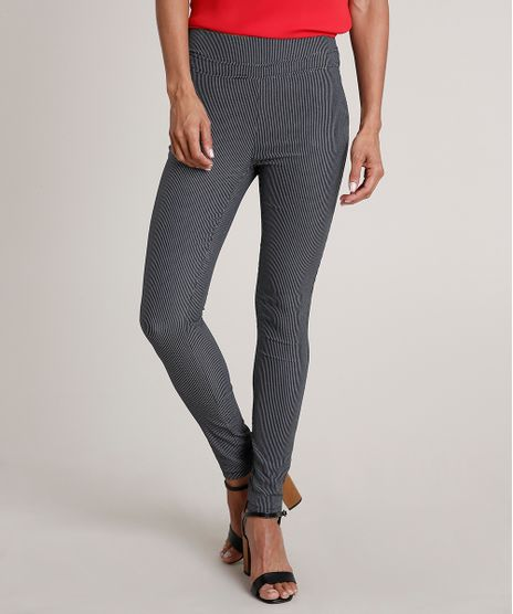 Calca-Legging-Feminina-Estampada-em-Jacquard-com-Bolsos-Azul-Escuro-9689663-Azul_Escuro_1