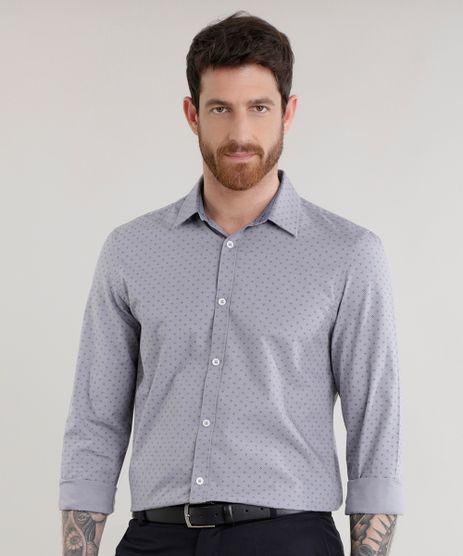 Camisa-Slim-Estampada-em-Algodao---Sustentavel-Cinza-8582235-Cinza_1