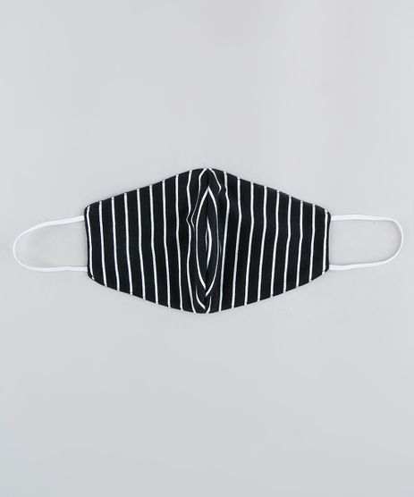 Mascara-de-Tecido-Reutilizavel-para-Protecao-Individual-Listrada-Preta-9950764-Preto_1