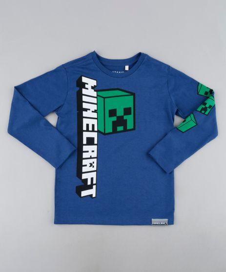 Camiseta-Infantil-Minecraaft-Manga-Longa-Azul-9944174-Azul_1