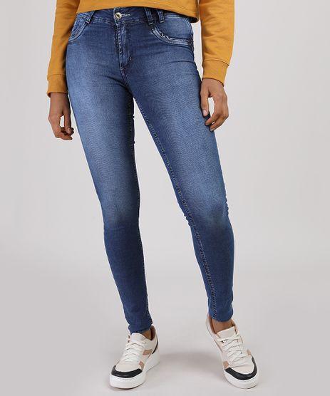 Calca-Jeans-Feminina-Sawary-Super-Skinny-Levanta-Bumbum-Cintura-Media-Azul-Escuro-9940133-Azul_Escuro_1