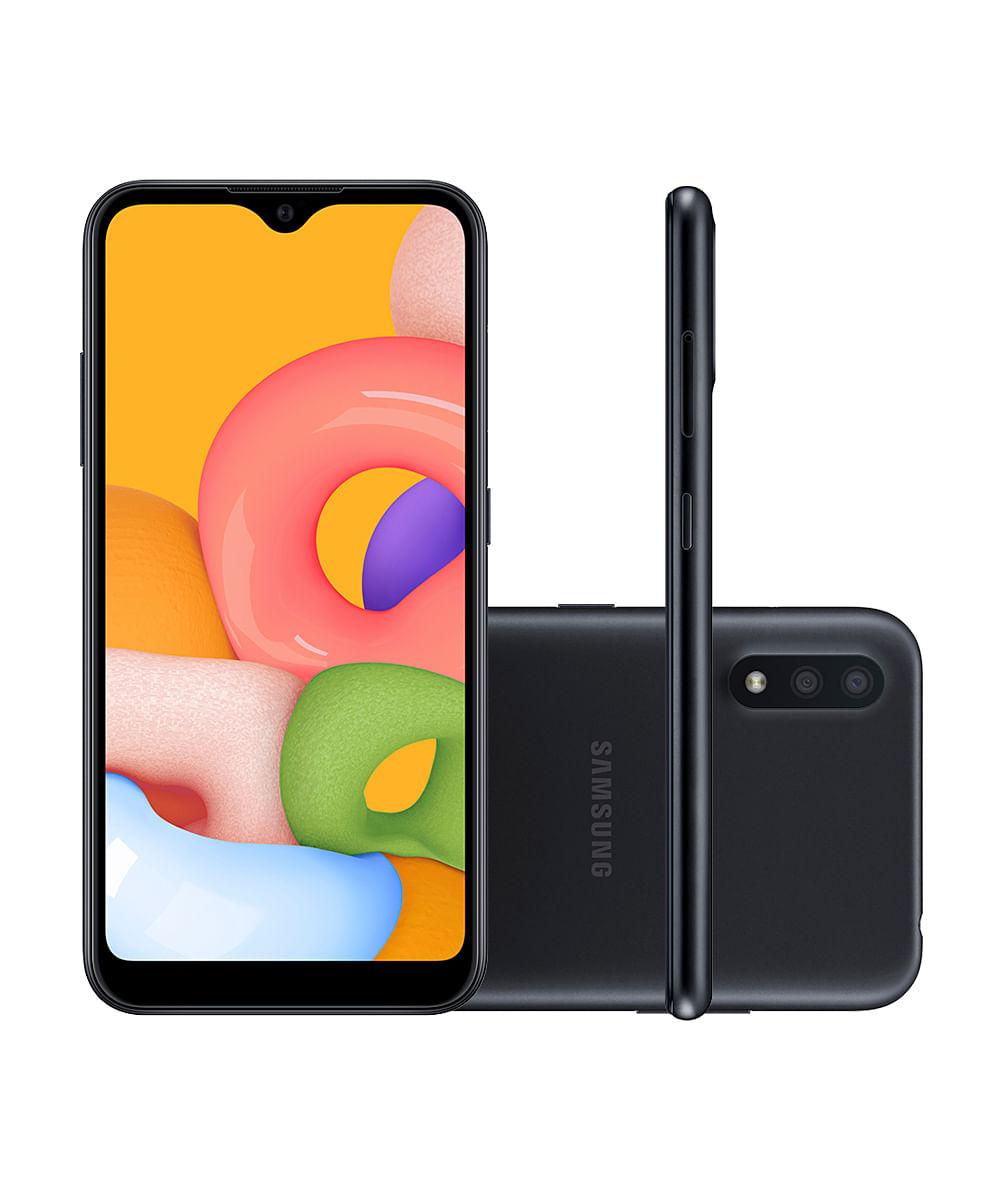 Smartphone Samsung SMA015 Galaxy A01 32GB Preto