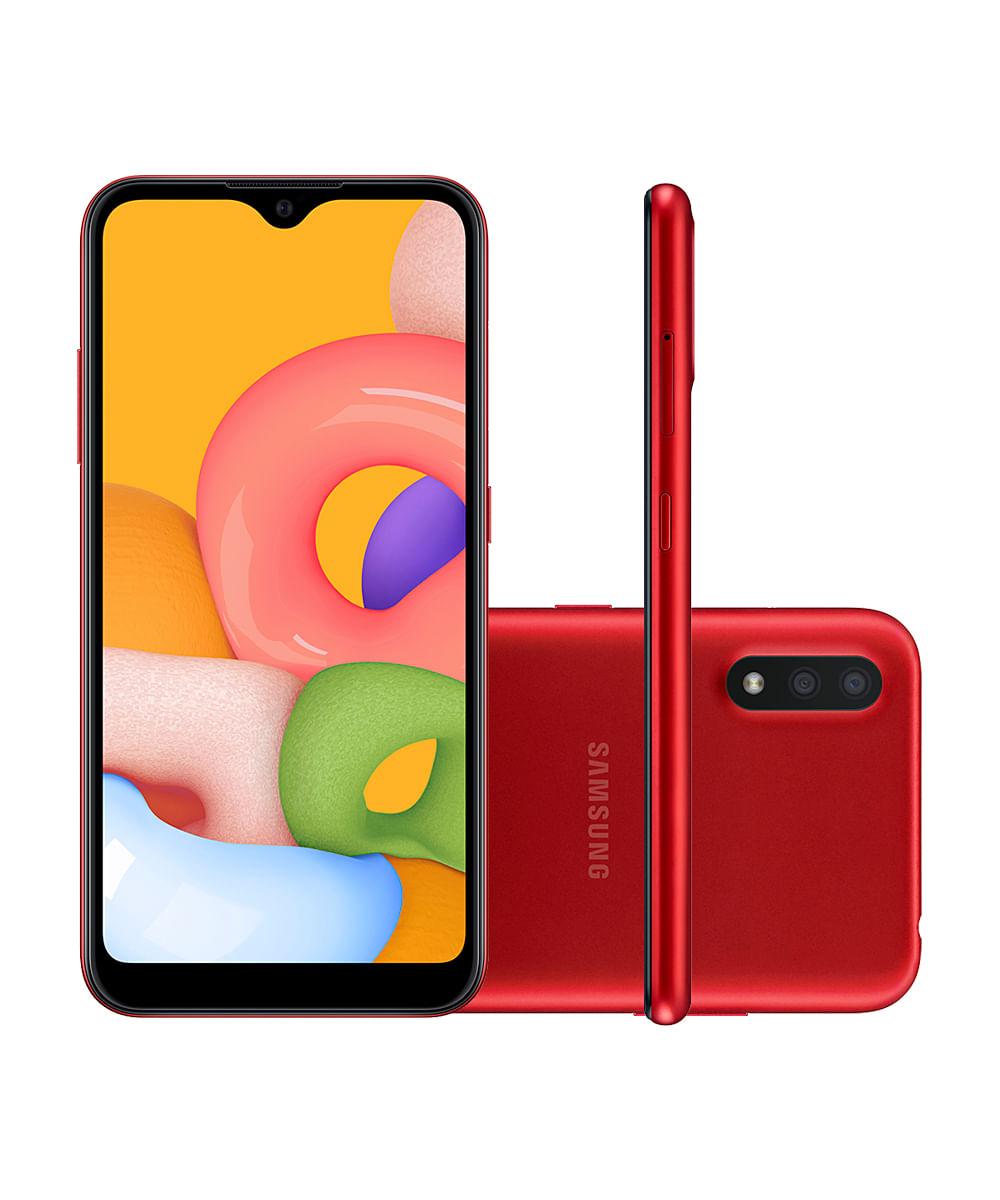 Smartphone Samsung SMA015 Galaxy A01 32GB Vermelho