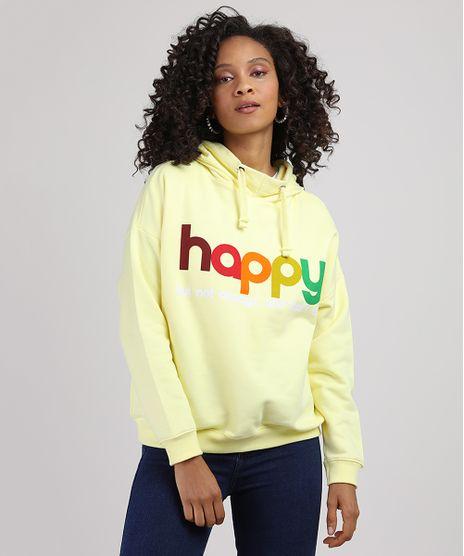 Blusao-de-Moletom-Feminino--Happy--com-Capuz-Amarelo-Claro-9946064-Amarelo_Claro_1