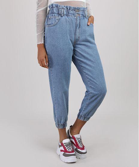 Calca-Jeans-Feminina-Mom-Jogger-Cintura-Super-Alta-Azul-Medio-9926865-Azul_Medio_1