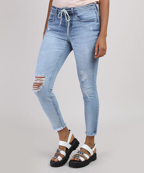 Calca-Jeans-Feminina-Cigarrete-Cintura-Media-Destroyed-com-Cinto-Cadarco-Azul-Claro-9935116-Azul_Claro_1