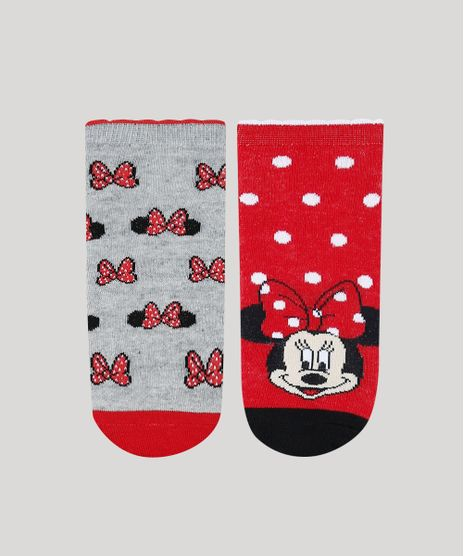 Kit-de-2-Meias-Infantis-Cano-Baixo-Minnie-Estampadas-Multicor-9482030-Multicor_1
