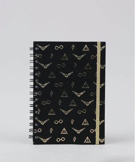 Caderno-Capa-Dura-Espiral-Elementos-do-Harry-Potter--Preto-9946999-Preto_1