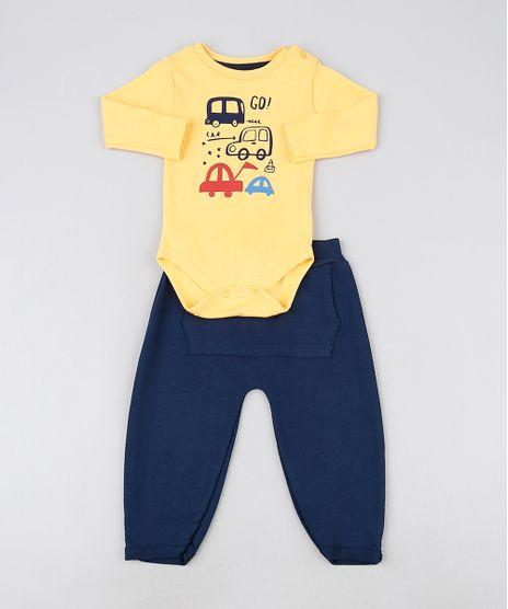 Conjunto-Infantil-Body-Amarelo-Carrinhos-Manga-Longa---Calca-com-Bolso-Canguru-Azul-Marinho-9929728-Azul_Marinho_1