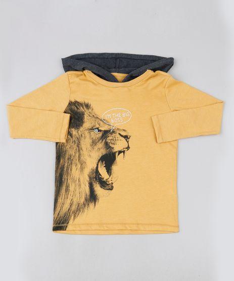 Camiseta-infantil-Leao-com-Capuz-Manga-Longa-Amarela-9885119-Amarelo_1