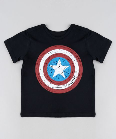 Camiseta-infantil-Capitao-America-Manga-Curta-Preta-9946167-Preto_1