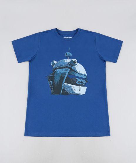 Camiseta-Juvenil-Burger-Fortnite-Manga-Curta-Azul-Royal-9945957-Azul_Royal_1