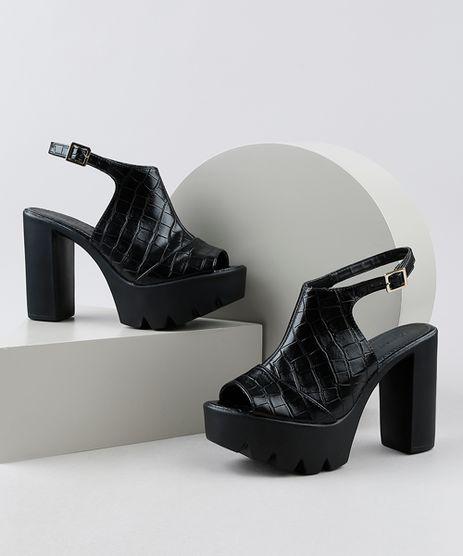 Sandal-Boot-Feminina-Oneself-Salto-Alto-Grosso-Tratorada-Texturizada-Croco-Preta-9949532-Preto_1