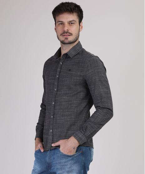 Camisa-Masculina-Slim-Manga-Longa-Cinza-Mescla-Escuro-9921267-Cinza_Mescla_Escuro_1