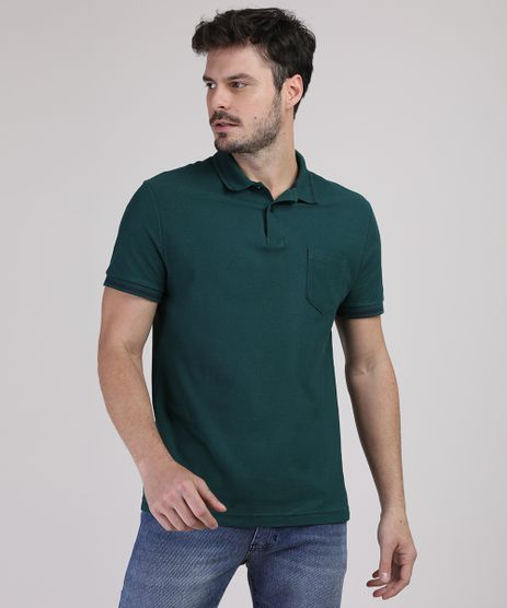 Polo-Masculina-Basica-Comfort-em-Piquet-Manga-Curta-Verde-Escuro-9536088-Verde_Escuro_1