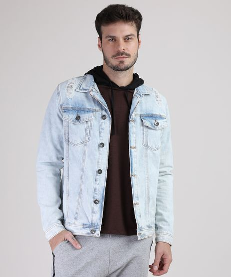 Jaqueta-Jeans-Masculina-Trucker-com-Rasgos-Azul-Claro-9769761-Azul_Claro_1