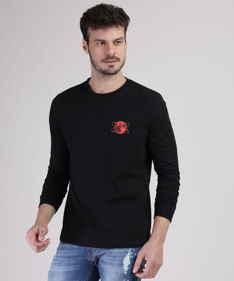 Camiseta-Masculina-Planeta-Terra-Manga-Longa-Gola-Careca-Preta-9940734-Preto_1