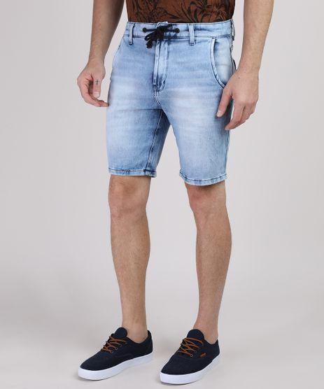 Bermuda-Jeans-de-Moletom-Masculina-Slim-com-Cordao-Azul-Claro-9941835-Azul_Claro_1
